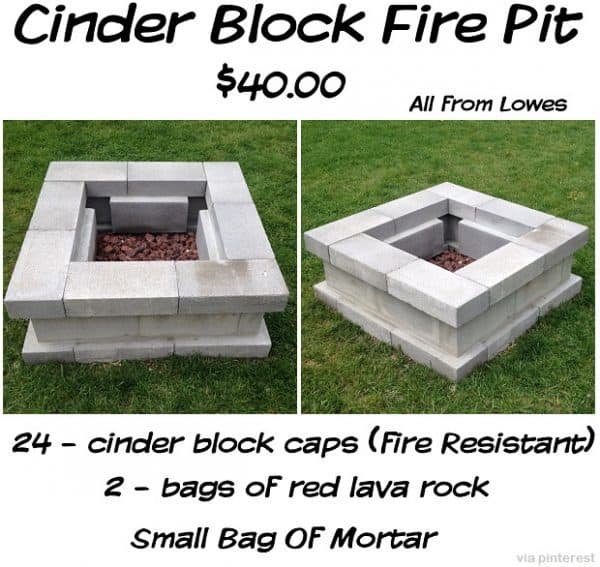 THE NEAT CINDER BLOCK FIRE PIT
