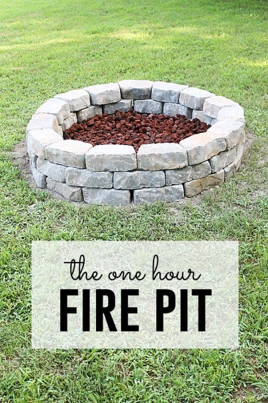 THE QUICK TO MAKE FIRE PIT