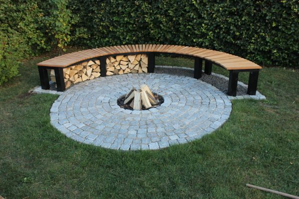 BENCH AND RING FIRE PIT