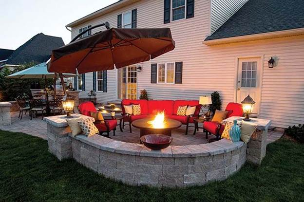 67 brilliant diy fire pit plans ideas to build for coziness and warmth. Black Bedroom Furniture Sets. Home Design Ideas