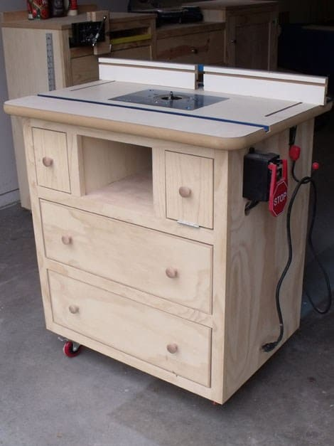 PATRICK'S ROUTER TABLE plan