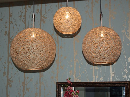HEMP STRING PENDANT LAMP