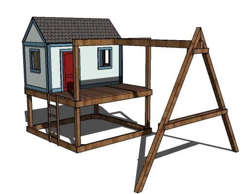 THE SWING SET THAT GOES TO A PLAYHOUSE