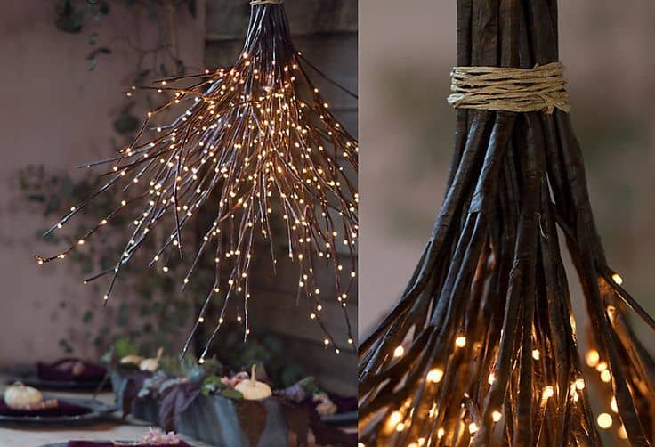 ELEGANT DELICATE CHANDELIER USING TWIGS
