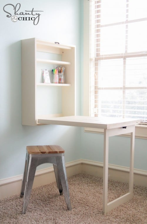 Build Yourself A Foldout Desk