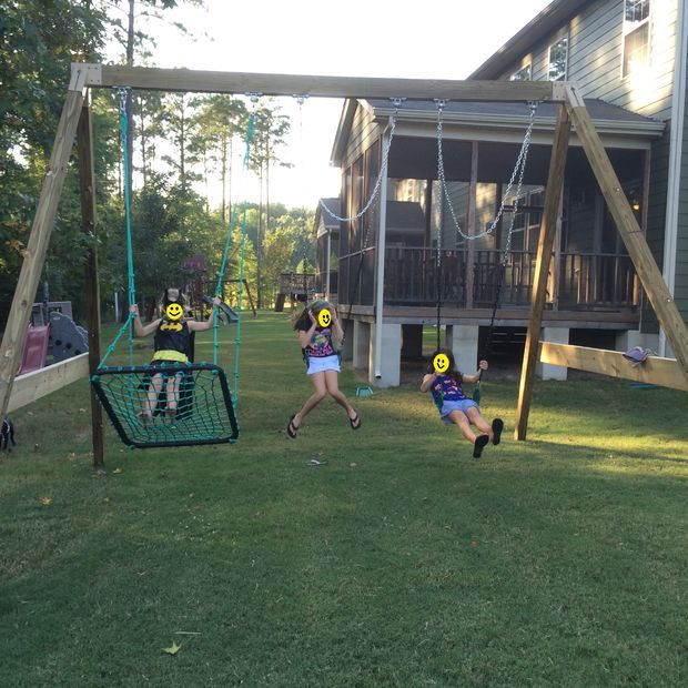 FREE STANDING A-FRAME SWING SET