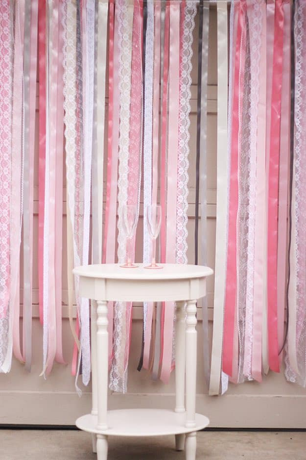 RIBBON AND LACE BACKDROP