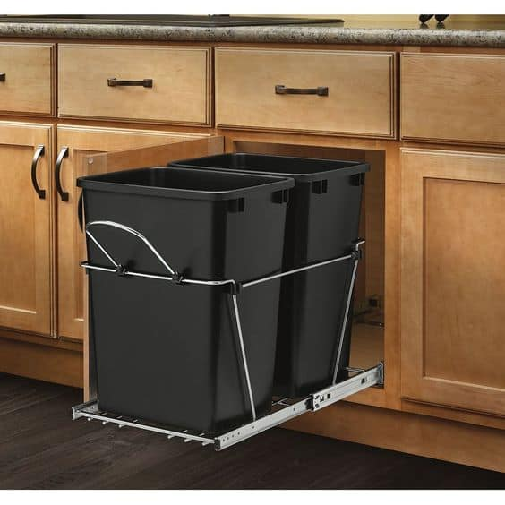 Hide Your Garbage Bins Inside Your Kitchen Cabinets