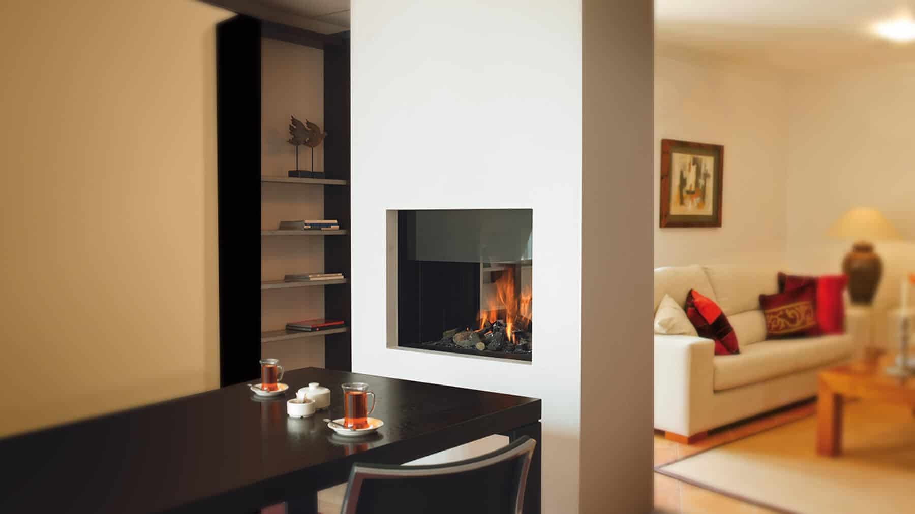 20 Functional Double-Sided Fireplaces For Your Spacious ...
