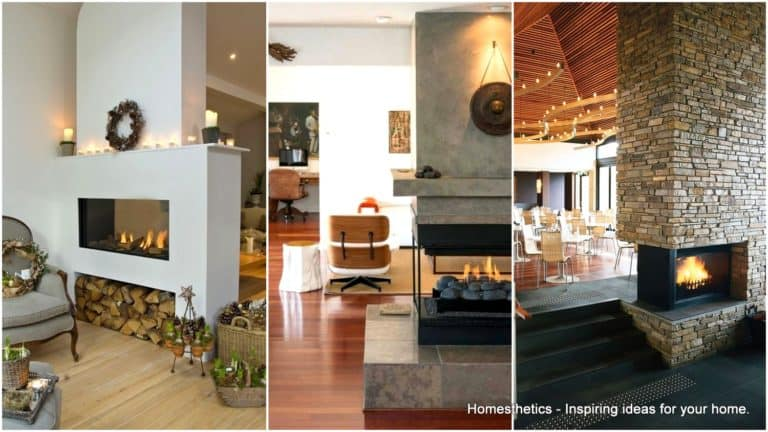 20 Functional Double Sided Fireplaces For Your Spacious Home