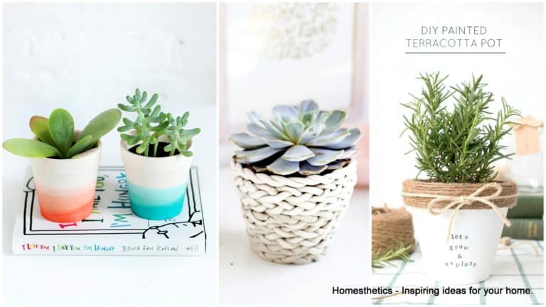 20 Ideas on How to Reinvent Your Terracotta Pots With Color