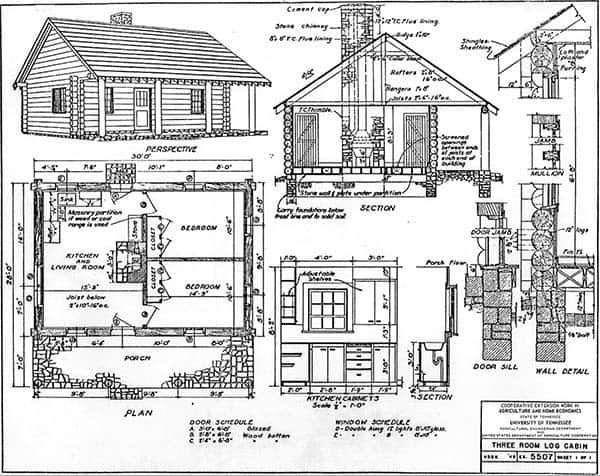 33 free or cheap small cabin plans to nestle in the woods for Free online log cabin floor plans