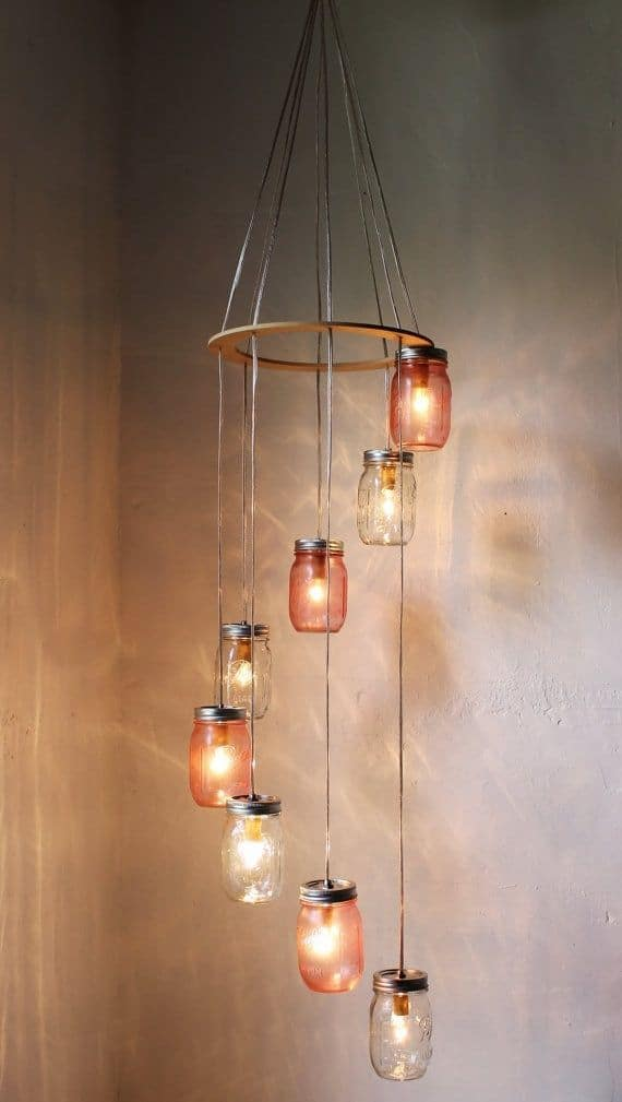 ANOTHER MASON JAR CHANDELIER