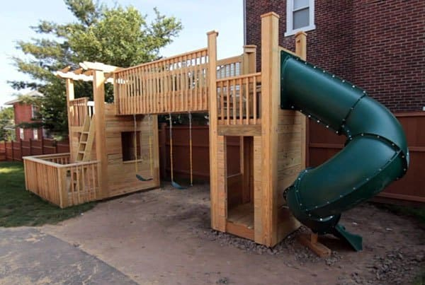 THE DREAM OUTDOOR WOOD PLAYSET