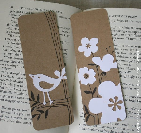 CARDBOARD AND PAPER BOOKMARK