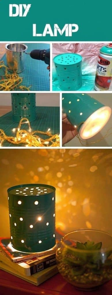 DIY LAMP WITH TIN CANS