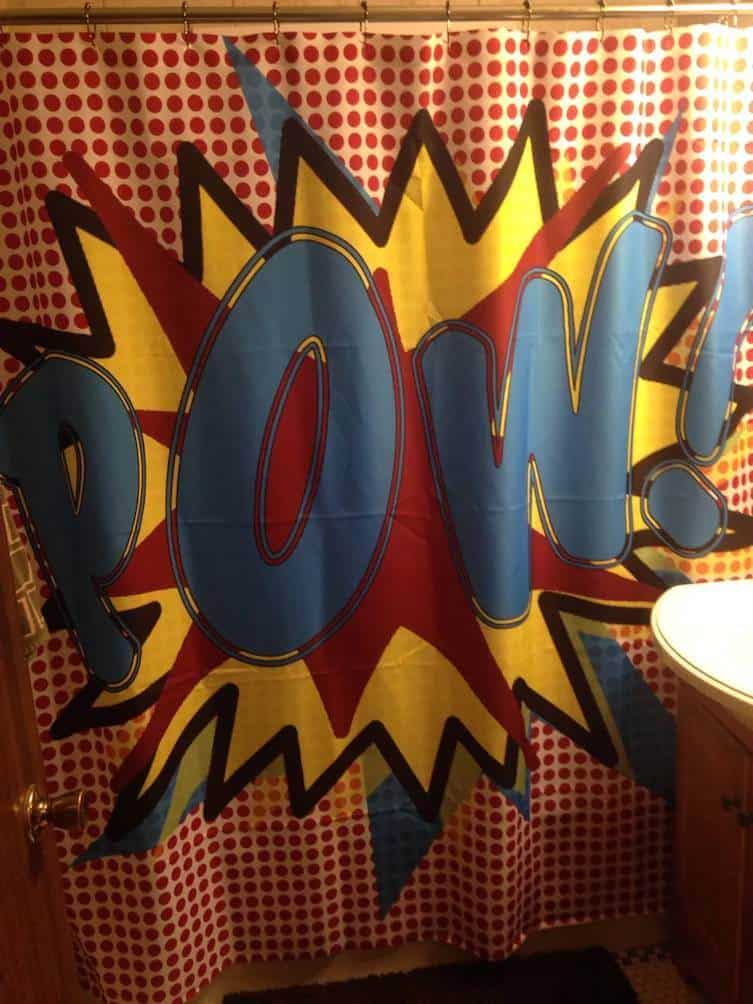 SHOWER CURTAIN FOR THE COMIC LOVERS