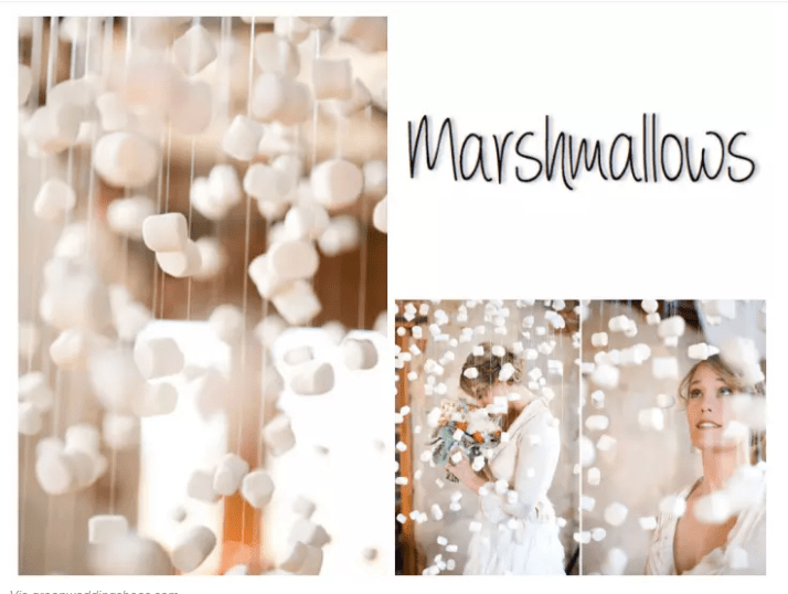 ONE WORD  MARSHMALLOWS Backdrop