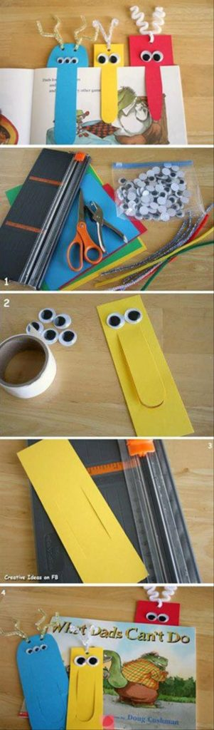 FUNNY BOOKMARKS WITH GOOGLY EYES