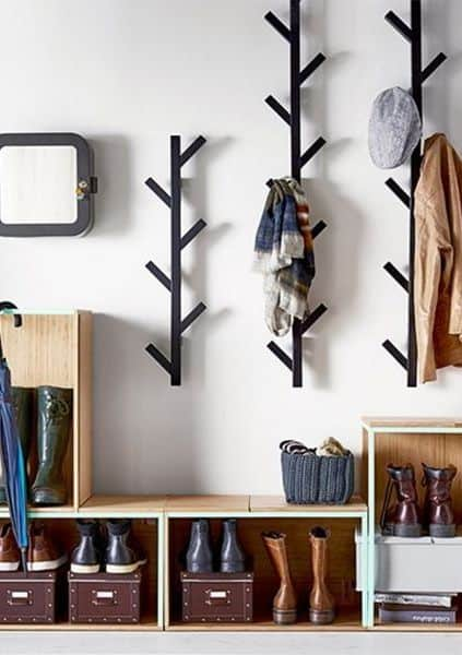 Use Coat HooksTo Store Free Up Some Wardrobe Space