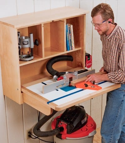 WALL MOUNTED ROUTER TABLE plans