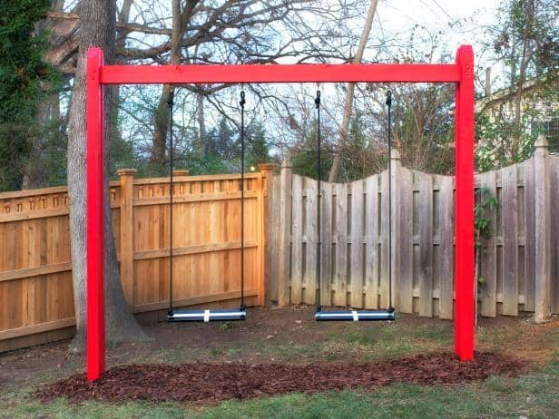 THE SIMPLE WOODEN SWING SET