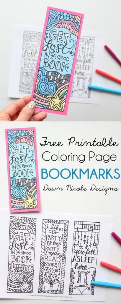 FREE PRINTABLE BOOKMARKS THAT YOU CAN COLOR BY YOURSELF
