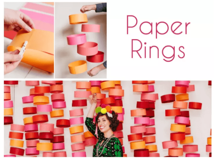PAPER RINGS BACKDROP
