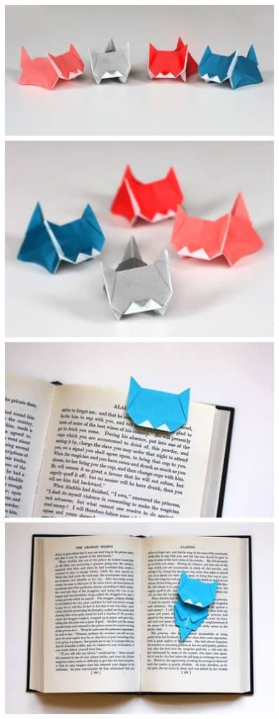 ORIGAMI KITTEN BOOKMARK