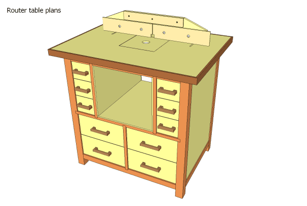 ROUTER TABLE PLANS WITH STORAGE plans