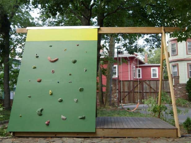 THE ROCK WALL SWING SET