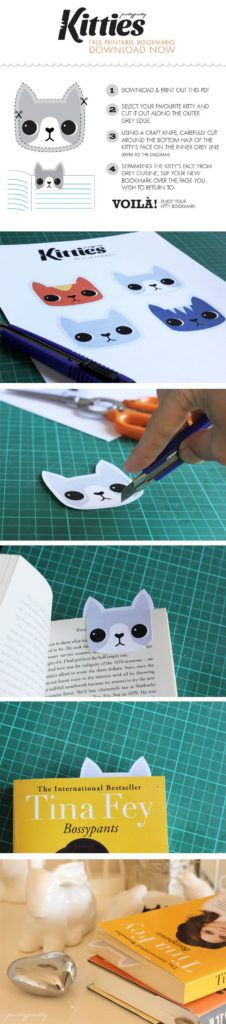 ANOTHER SIMPLE KITTY BOOKMARK