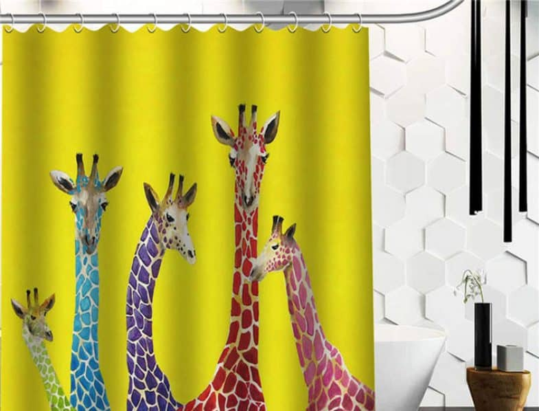 JELLYBEAN GIRAFFES SHOWER CURTAIN