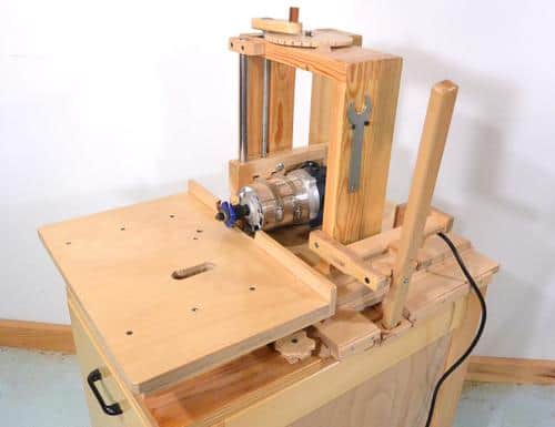 HORIZONTAL ROUTER TABLE FOR THE SLOT MORTISE