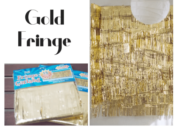 GOLD FRINGES Wedding Backdrop