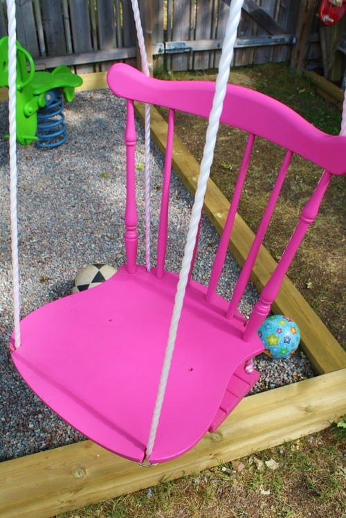BROKEN CHAIR DIY SWING