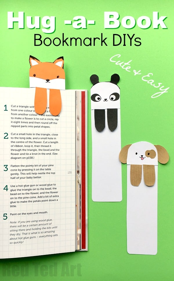 HUG-A-BOOK PUPPY BOOKMARK