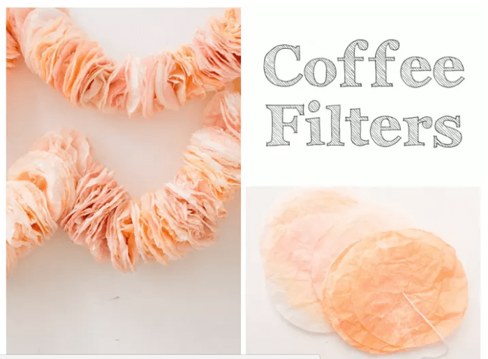 Colorful COFFEE FILTERS BACKDROP