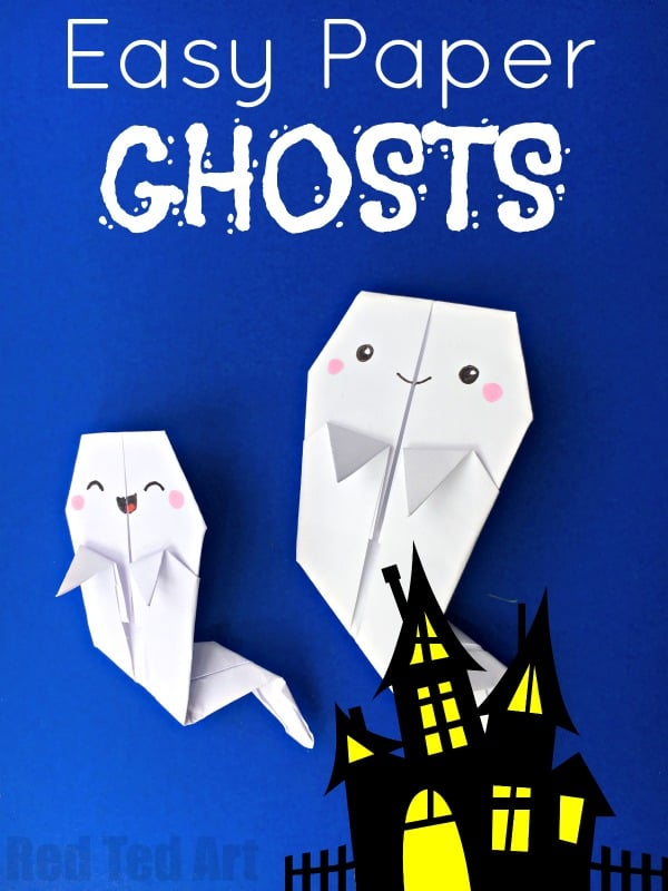 ORIGAMI GHOSTS BOOKMARK