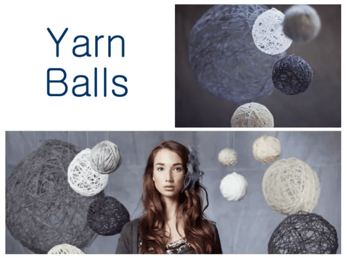 YARN BALLS BACKDROP