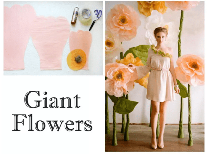 GIANT FLOWERS Wedding Backdrop