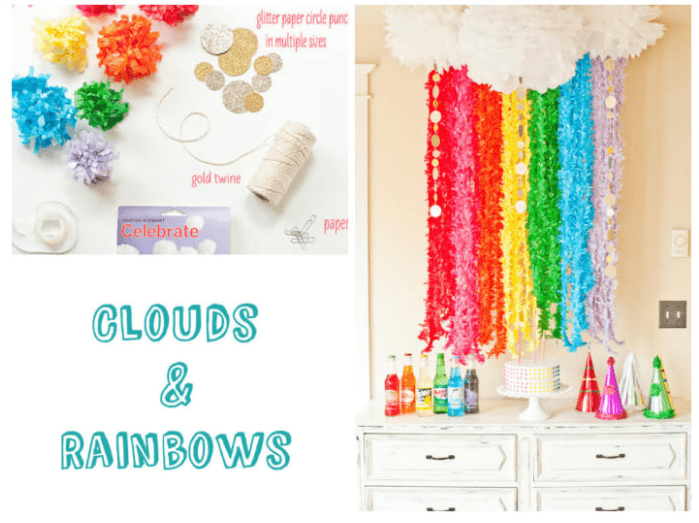 CLOUDS AND RAINBOWS Photo Booth
