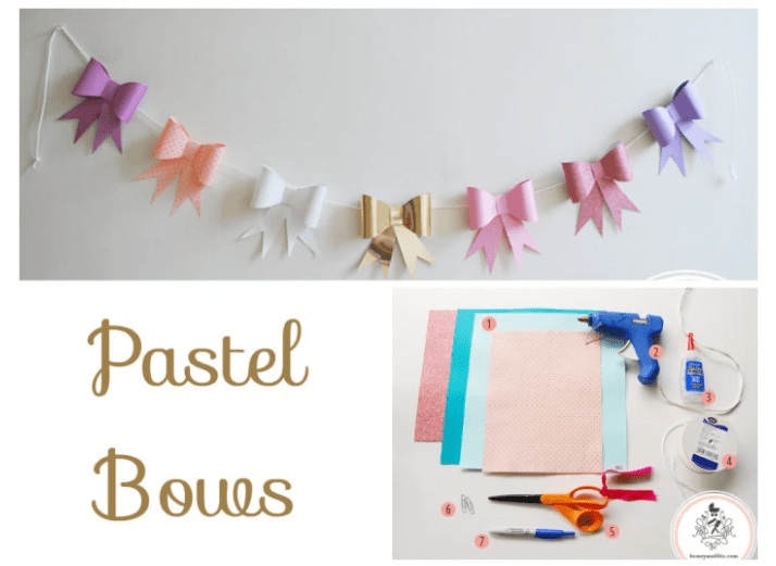 PASTEL BOWS BACKDROP