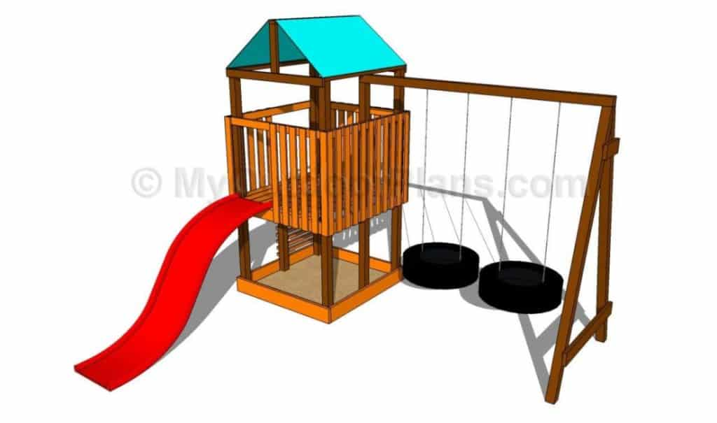 THE TIRE SWING PLAYSET