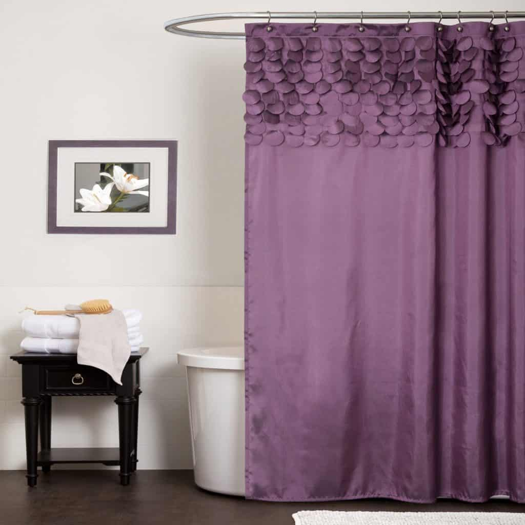 PURPLE LUSH DÉCOR LILLIAN SHOWER CURTAIN