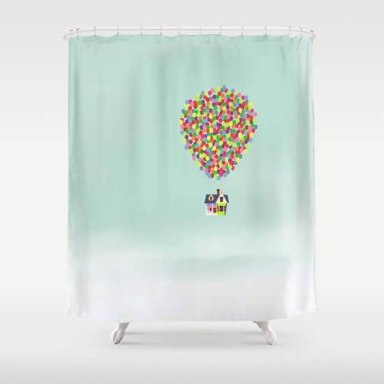 UP THEMED SHOWER CURTAIN