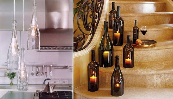 GLASS BOTTLE PENDANT LAMPS