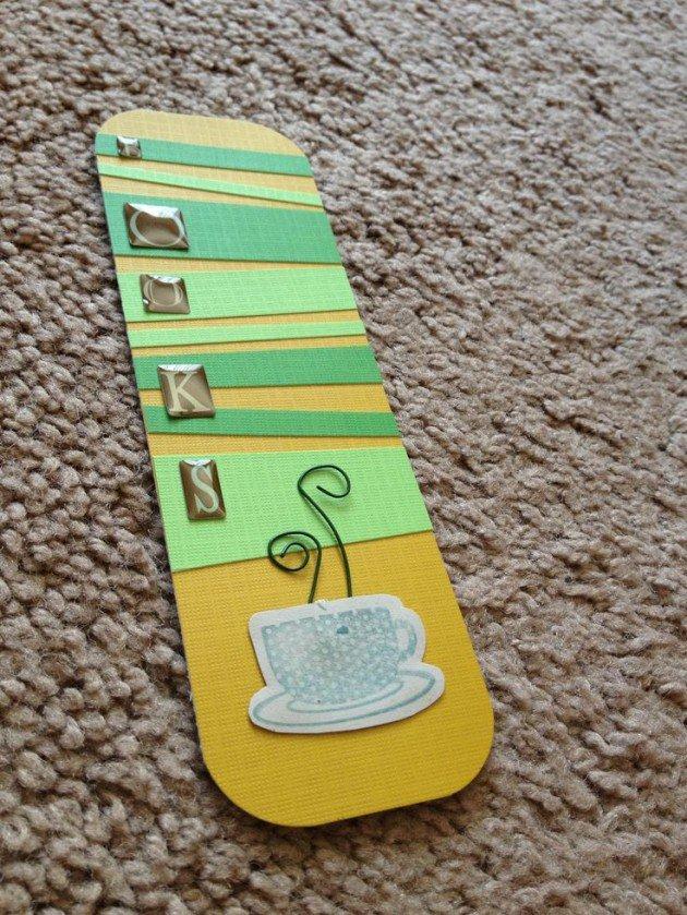 WHAT BETTER THAN A BOOKMARK THAT REMINDS YOU OF COFFEE?