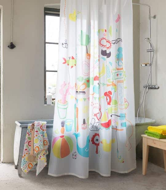 BADBACK SHOWER CURTAIN