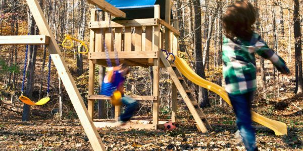 THE WOODEN SWING SET